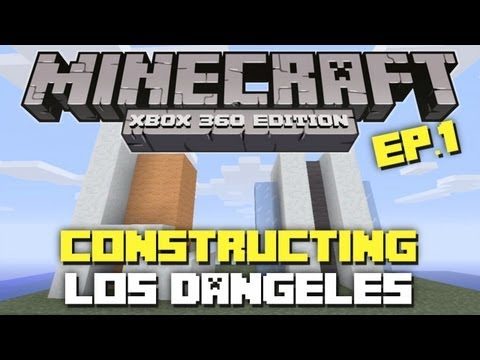 Minecraft Xbox 360: Constructing  Los Dangeles! Episode 1! (Initial Plans)