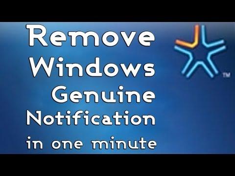 How to remove Windows Genuine Notification