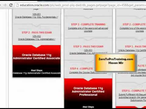 Oracle Certification Steps - Part 1 of 2