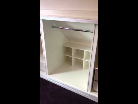 Sliding wardrobe fitted in a dormer style home