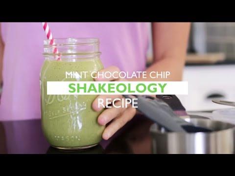 Mint Chocolate Chip Shakeology Shake