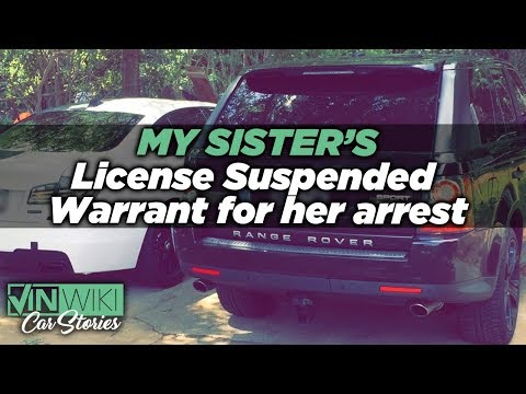My tickets got a warrant out for my sister's arrest