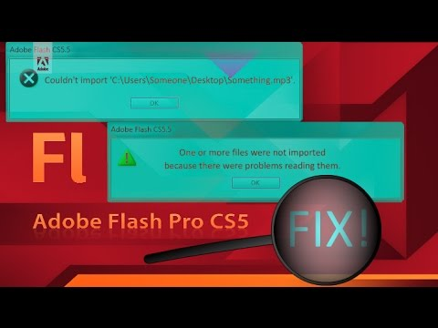 Adobe Flash - IMPORT SOUNDS! - 3 Ways To FIX ERROR!