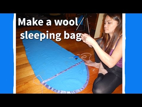 How to make a wool sleeping bag
