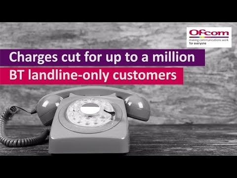 Charges cut for up to a million BT landline-only customers