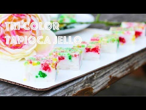 Tri Color Tapioca Jello