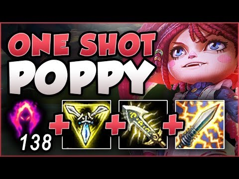 WAIT... WTF IS THIS POPPY PASSIVE DMG?? ONE SHOT POPPY IS TOO DUMB! POPPY GAMEPLAY League of Legends