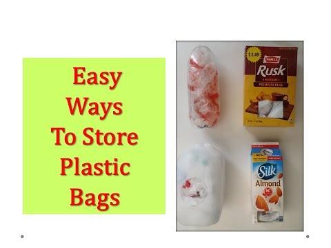 How to store plastic bags? - DIY plastic bag dispensers from 'Waste' (  DIY Plastic bag organizers)