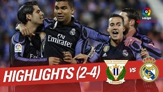 Resumen de CD Leganés vs Real Madrid (2-4)
