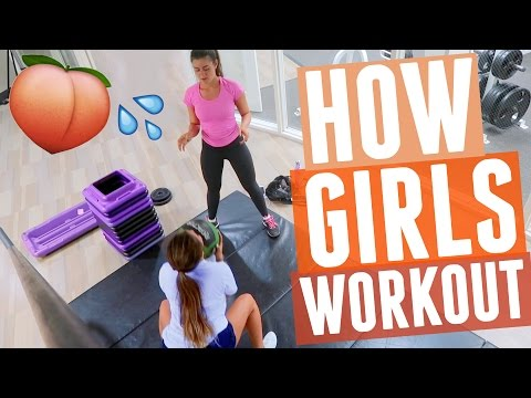 HOW GIRLS WORKOUT?! Our secrets to bigger butt and abs😏🍑