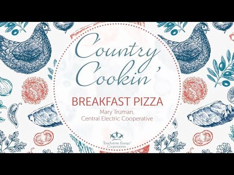 Country Cookin':  Brunch Sausage & Egg Breakfast Pizza