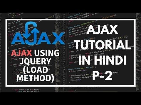 AJAX tutorial for beginners in Hindi Part 2: Get data from Server using load method in AJAX JQUERY