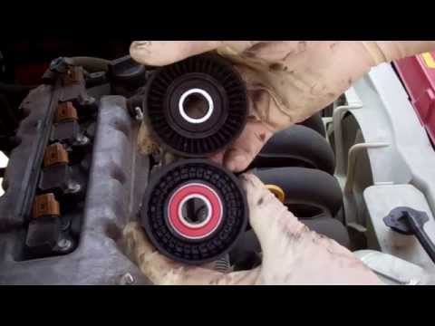 Changing Squeaky Toyota Corolla Tensioner Pulley 2000-2006