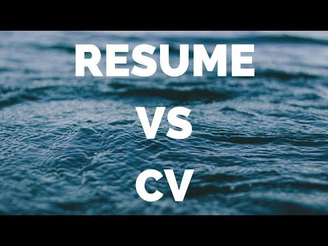 RESUME or CV || BETTER FOR JOBS?  || US || UK || CANADA || EUROPE || INDIA || ENGINEERING || MBA