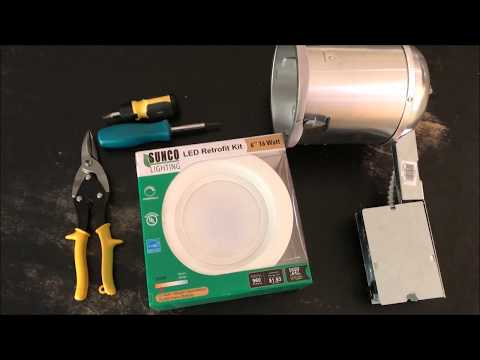 DIY Retrofitting a CFL Can Light with an LED Can Light