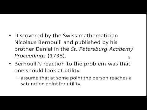 St Petersburg Paradox