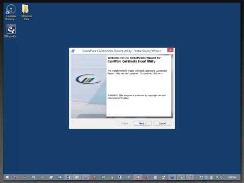 Importing From QuickBooks Online Into Working Papers - Installing the QuickBooks Export Utility