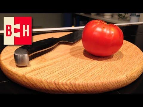 Round Oak Cutting Board // Mostly Hand Tools