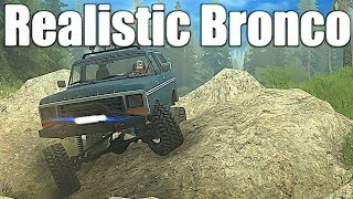 SpinTires MudRunner: NEW 1978 Ford Bronco (Realistic Build)