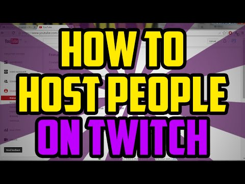 How To Host & Unhost People On Twitch 2017 - Twitch How to Host Someone Tutorial