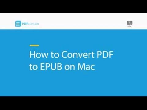 How to Convert PDF to EPUB on Mac
