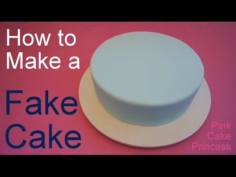 How to Make a Fake Cake or Dummy Cake / Covering a Styrofoam Dummy Cake