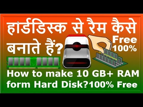 How to make RAM from harddisk?Harddisk se RAM kaise banate hain?[Hindi/Urdu]