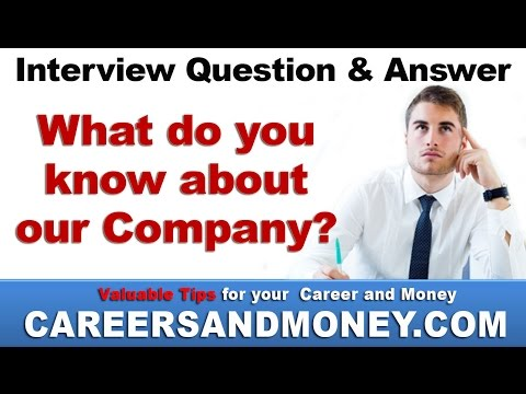 What do you know about our company ? Interview Question & Answer