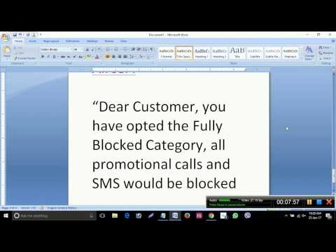 How to stop Aircel promotional calls and SMS
