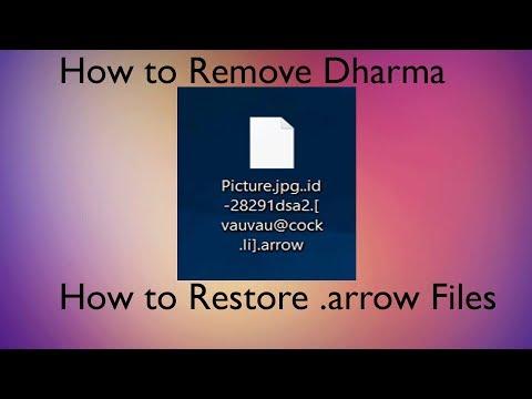 .arrow Files Ransom Virus (Dharma) -  How to Remove + Restore Data