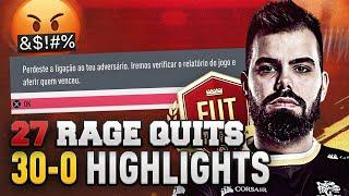 BEST MOMENTS DE MAIS UM 30-0! 27 RAGE QUITS E MUITO FUTEBOL ARTE.
