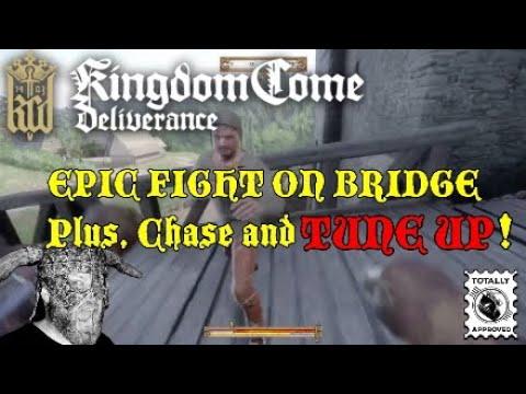 Kingdom Come Deliverance EPIC FIGHT on BRIDGE. Plus Chase and TUNE UP!