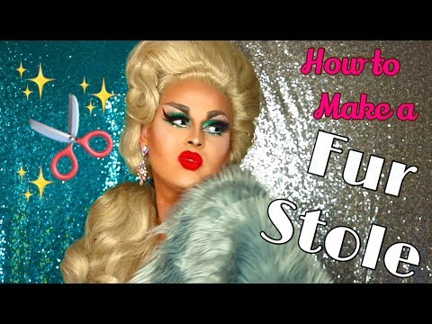 HOW TO MAKE A FUR STOLE | EASY DRAG COSTUMES | JAYMES MANSFIELD