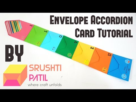 Envelope Accordion Card Tutorial by Srushti Patil
