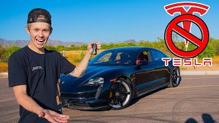 Electric $250,000 Porsche Taycan VS TESLA!  (Which is Faster?)