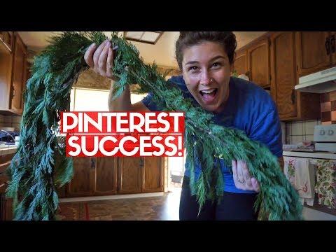 DIY FRESH GARLAND | Easy, Cheap Christmas Decor