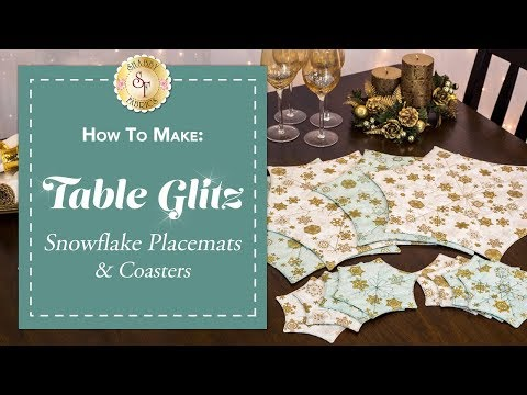 How to Make Snowflake Placemats & Coasters | a Shabby Fabrics Sewing Tutorial