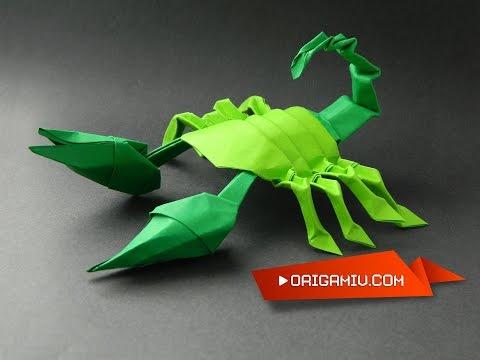 Scorpion modular tutorial origami
