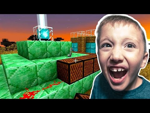 7 Year Old Adan Builds a Musical Teleporter in Minecraft