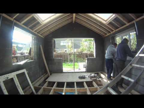 Timelapse - Replacing an old conservatory with a shiny new extension.