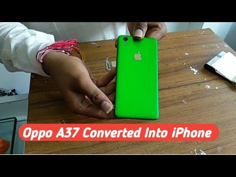 Oppo A37 Converted Into iPhone Skin Wrap Lamination | Tech 4 You |