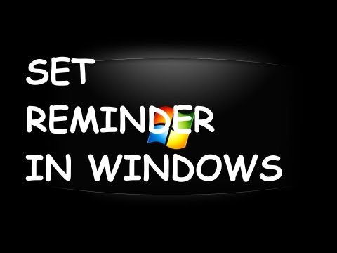 How To Set Reminder In Windows