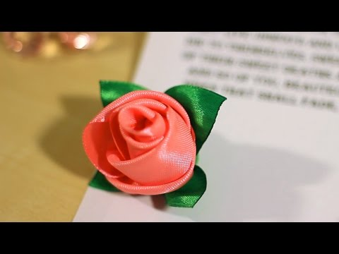 DIY Ribbon Rose - How To Make Rose Buds Out Of Ribbon