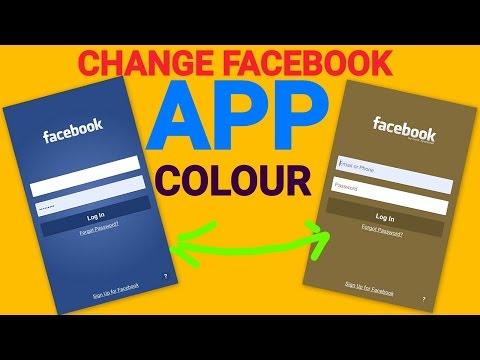 Change Your Facebook APP Colour