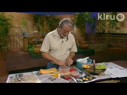John saves tomato seeds: Central Texas Gardener