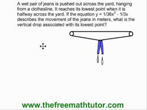 Vertex Problems in Quadratic Functions - Example 1