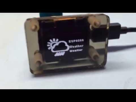 ESP8266 Weather Info Desktop Display v1.1