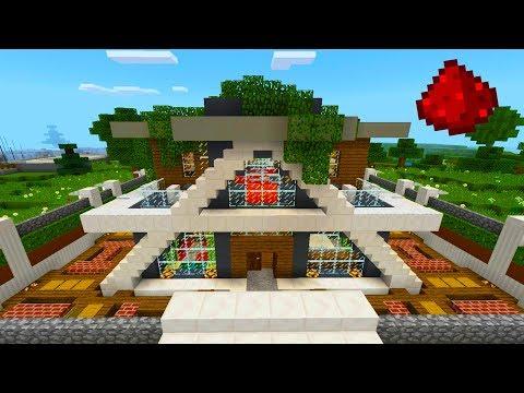 MCPE - ULTRA Redstone Smart House (40+ REDSTONE CREATIONS)
