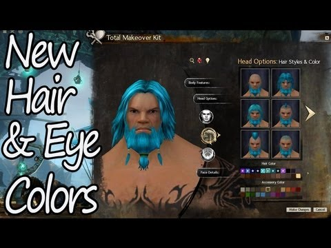 Guild Wars 2 - New Character Hair & Eye Colors