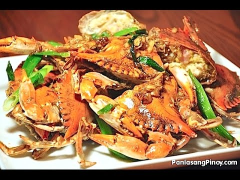 Stir Fry Blue Crabs with Ginger and Scallions